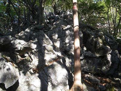 天狗岩の登り