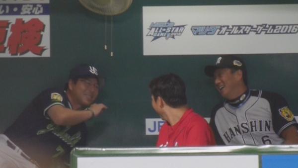 【画像】 新井と金本の仲wwww 2016オールスターゲーム そうだ、野球をみよう