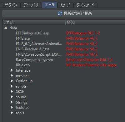 Skyrim Mod Organizer データ