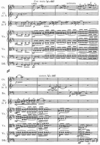 チャイコフスキー/交響曲第5番第2楽章、副次主題