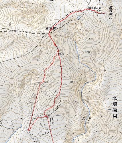 西吾妻軌跡