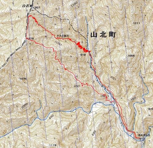 160611ヌタ小屋沢軌跡