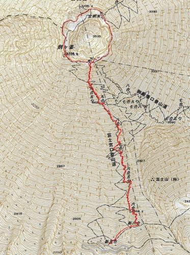 160701 富士山軌跡