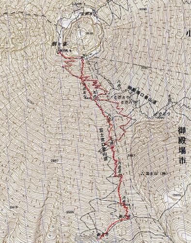 160903 富士山軌跡