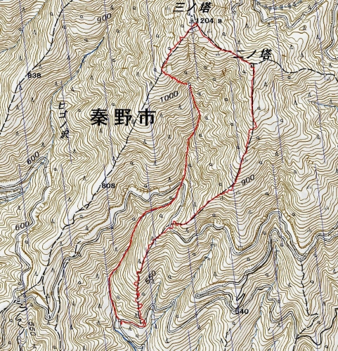 160910 葛葉沢軌跡