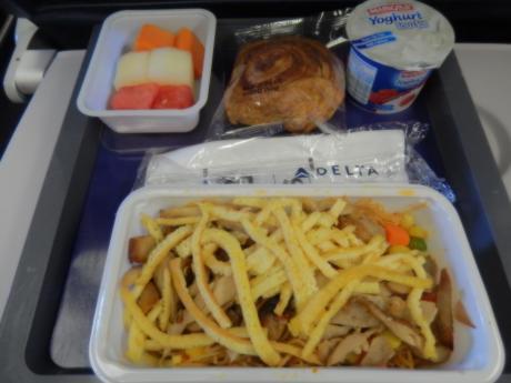 シンガポール2016.1デルタ航空成田行・機内食