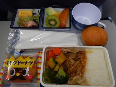 香港2016.3チャイナエアライン・機内食