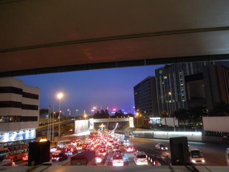 香港2016.3海底トンネル入口