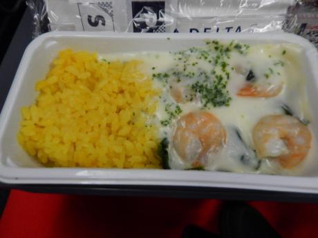 シンガポール2016.3デルタ航空シンガポール行機内食