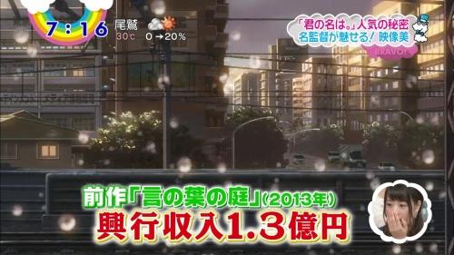 映画『君の名は。』8日間で27億円突破!シン・ゴジラを上回るペース!深夜アニメ映画とはレベルが違った・・・