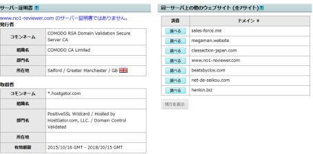 中井忍所有サーバーのサイト