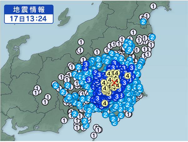 茨城地震2016/7/17