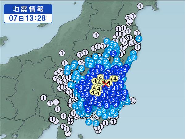 茨城地震2016:9:7