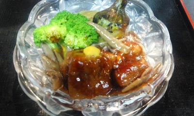 160811水茄子と豚の角煮の炊き合わせ