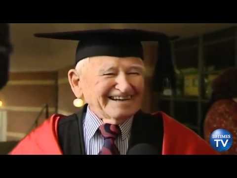 elderly graduate