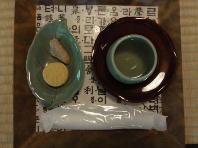2016年5月8日 韓国のお茶と茶菓子