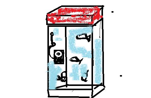 電話ボックス(金魚)2016 8 19 (mt.okuho).