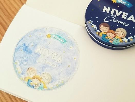水彩ニベア缶②