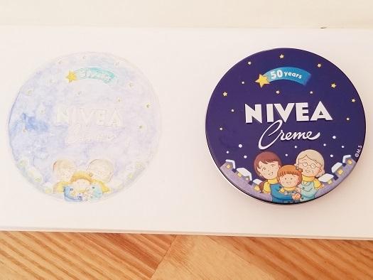 水彩ニベア缶①