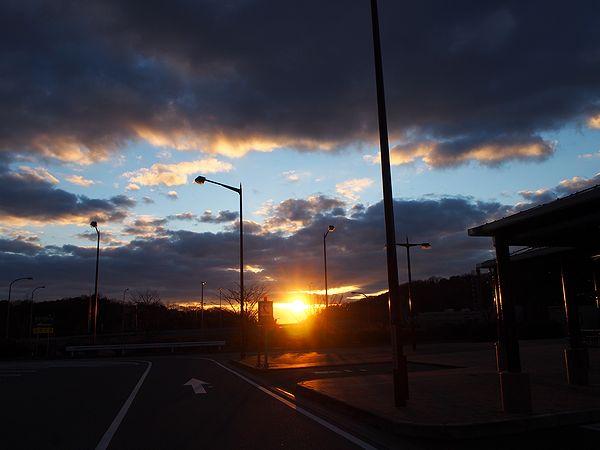 前開からの夕日