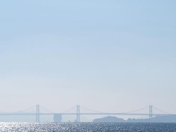 水平線の瀬戸大橋
