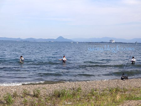 7月23日 琵琶湖釣り人
