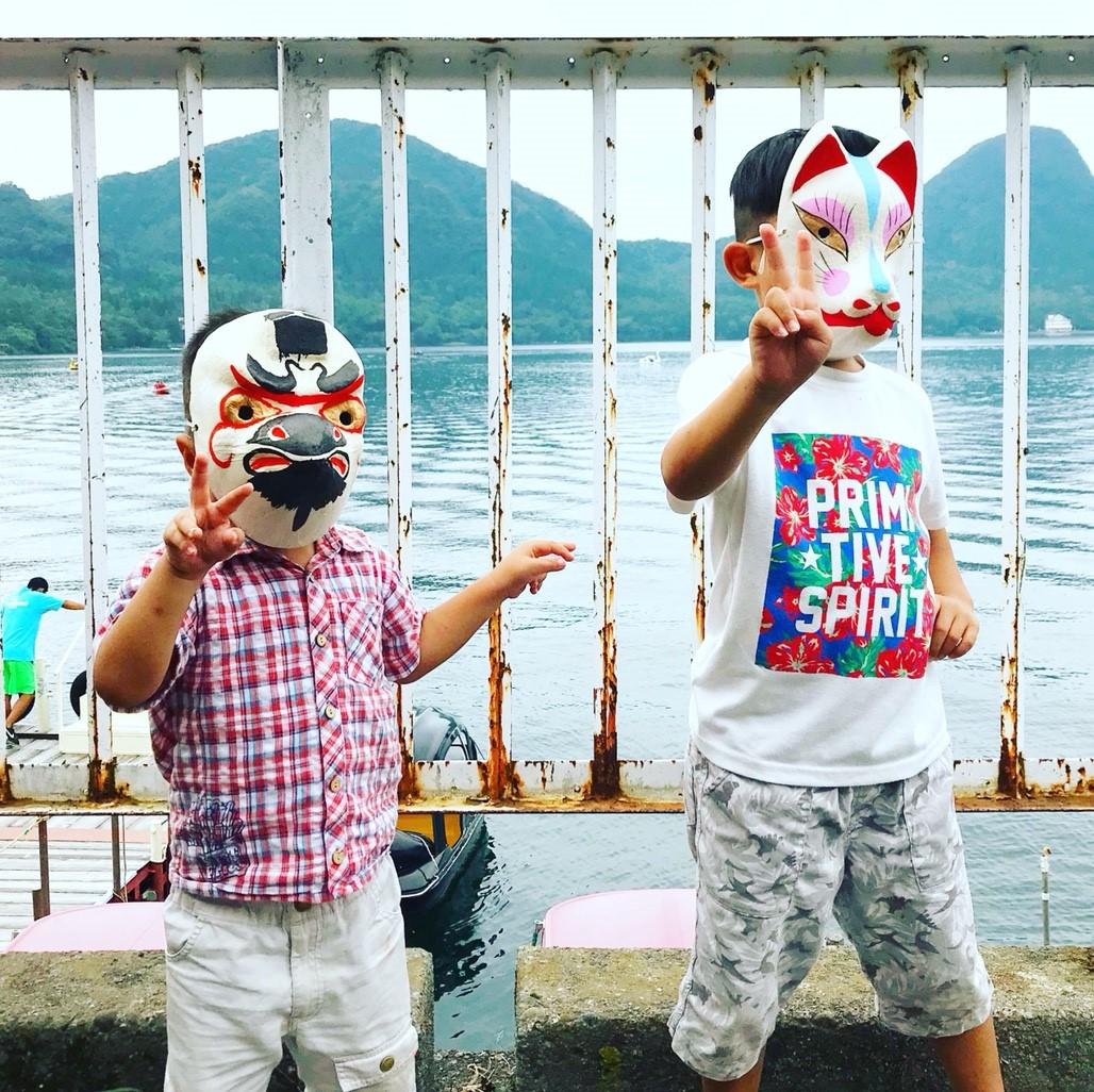 子ども達 榛名湖にて