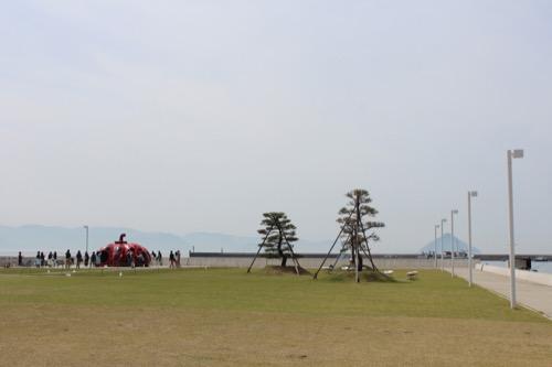 0066:海の駅なおしま 宮浦港と赤かぼちゃ