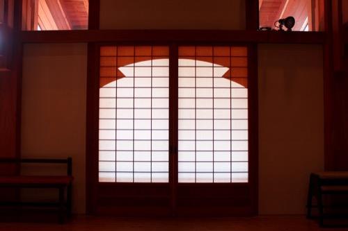 0091:稱名寺本堂 土佐和紙による障子