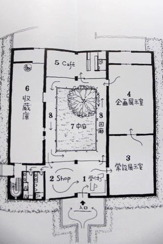 0096:伊丹十三記念館 パンフレットから平面図