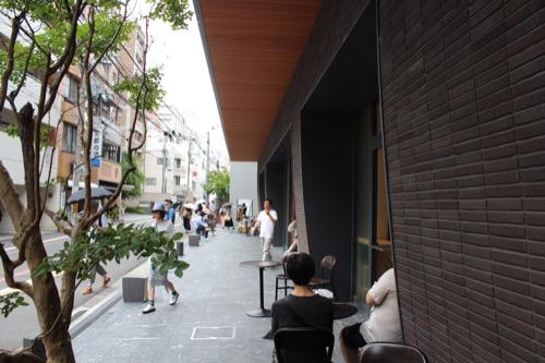 0122:京都八百一本館 東洞院通のオープンカフェ