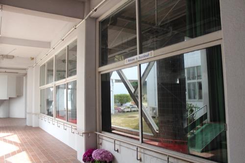 0128:直島小学校 体育館の開口