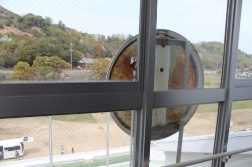 0128:直島小学校 図書室北端からの眺め