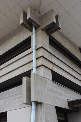 0132:香川県立武道館 出隅のデザイン