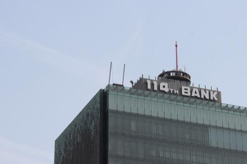 0134:百十四銀行本店 屋上の電波塔