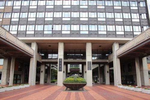 0138:岡山県庁舎 正面玄関