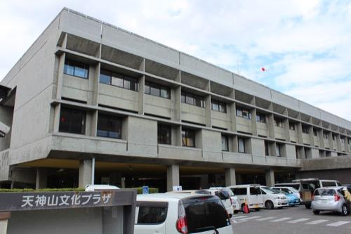 0140:岡山県天神山文化プラザ 南側ファサード