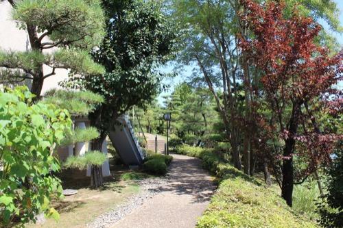 0156:松柏美術館 アプローチの庭園