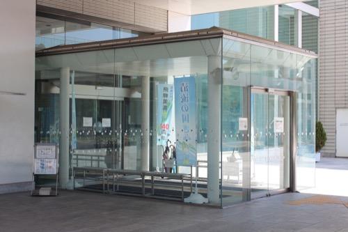 0158:岐阜県図書館 玄関デザイン