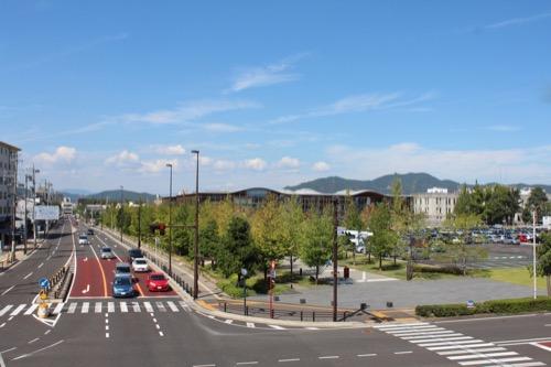 0160:ぎふメディアコスモス 歩道橋から