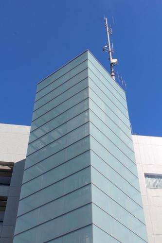 0169:掛川市庁舎 緑の美しい階段室