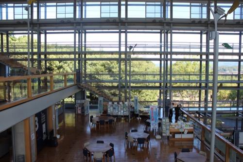 0169:掛川市庁舎 生涯学習デッキを上の階から