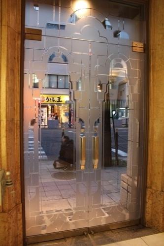 0181:生駒ビルヂング 入口扉のデザイン