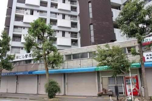 0148:市営基町高層アパート 地上の商店街