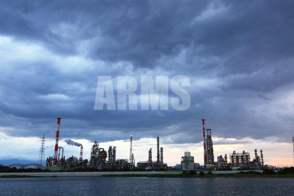 三重県の工場 夕景 夜景