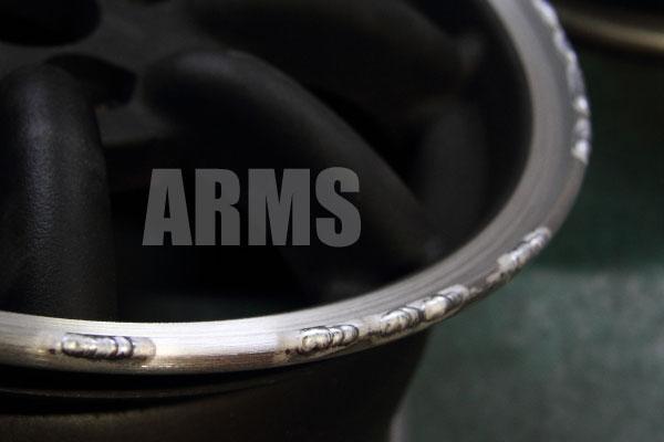 ワタナベ ホイール リムの削れ修復