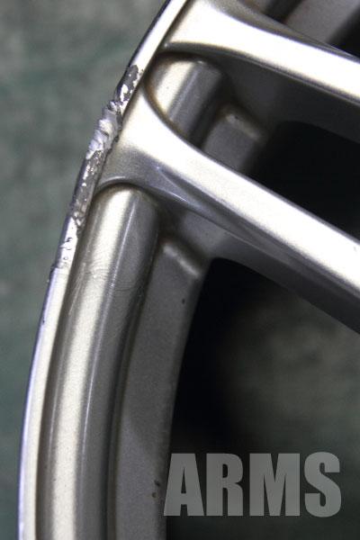 アドバン AVS モデル5 曲がり修正と傷リペア