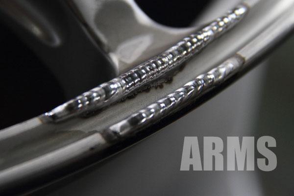 アドバンレーシング RSⅡ ハイパーシルバー塗装
