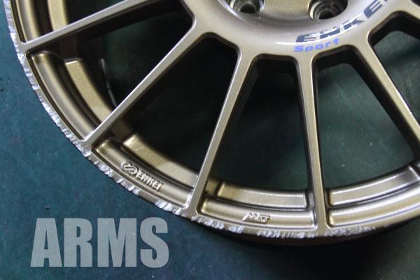 ENKEI Sport ホイールの傷 修理 ホイール塗装