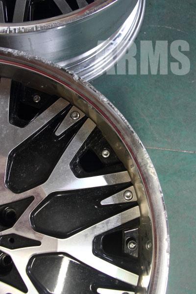 アミスタッド レヴァーレ 20インチ リムの傷、溶接修理